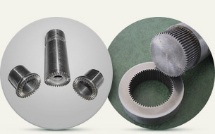 Manufacturing of sealing ends, sline joints, gear wheels
